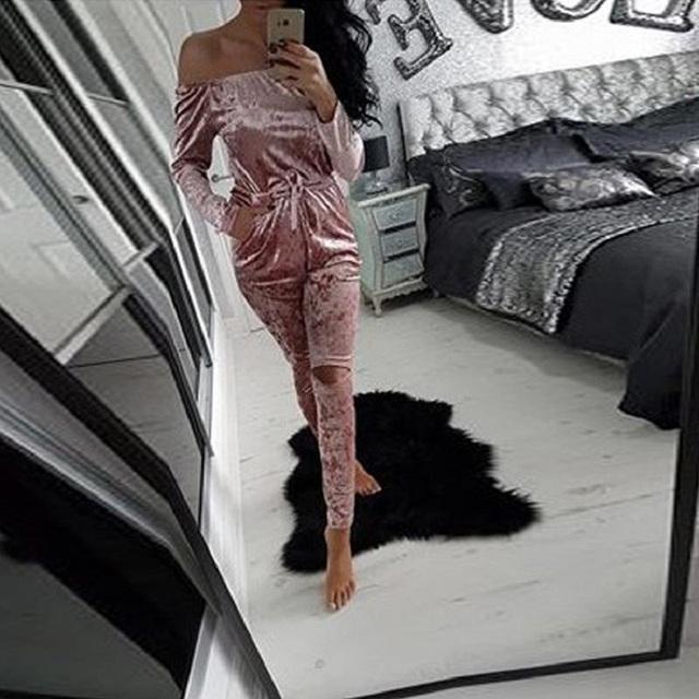 Beautiful Velvet Jumpsuit for Women