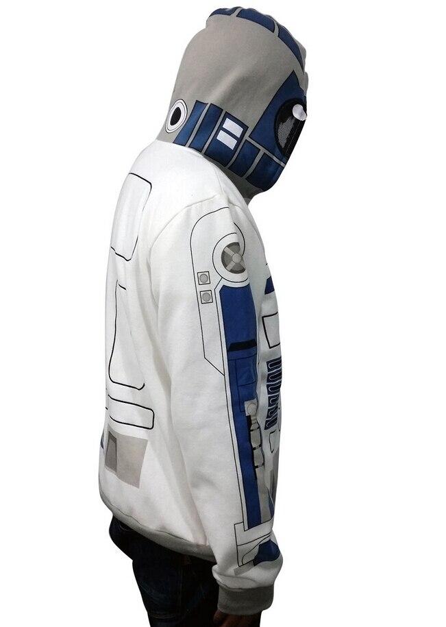 Взрослый Star Wars Костюм С Капюшоном я R2 D2 R2D2 Повседневная Куртка  Косплей Костюм Мужчины Толстовка Пальто Плюс Размер купить на AliExpress 5547aecf1b6