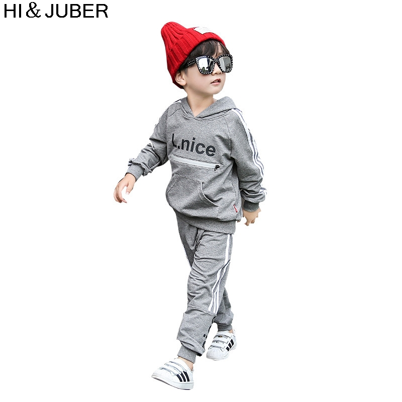Childrens suit 2017 autumn and winter childrens sports suit warm girls sweater two sets of childrens clothing wholesale