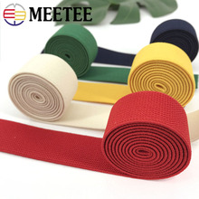 Meetee 5Yards 38MM Colorful Thicking Elastic Bands Webbing for Garment Trousers Waist Rubber Handmade Accessories AP618