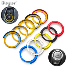 Ceyes Auto Engine Start Stop Ignition Ring Interior Decorative Covers Sticker Case For Bmw 1 2 3 4 Series X1 F48 F32 Car Styling