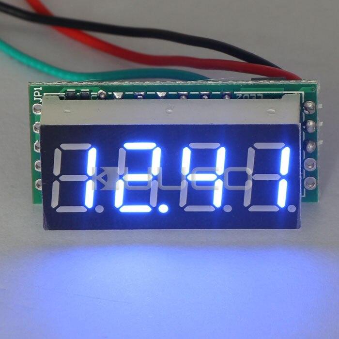 Digital Voltage Meter DC 0 ~30V Blue LED Display Voltmeter DC 12V 24V Volt Meter for Motor /Motorcycle / Car/Battery etc
