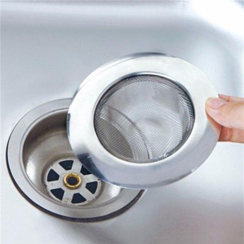 Anti Clog Hair Clean Up Sink Strainer Waste Catcher Drain Filter Mesh Trap