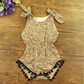 Easter Baby Clothes Cheetah Printed Cotton Pom Baby Bubble Romper 3T Girls Toddler Playsuit  Bow Sleeveless petti Baby Romper