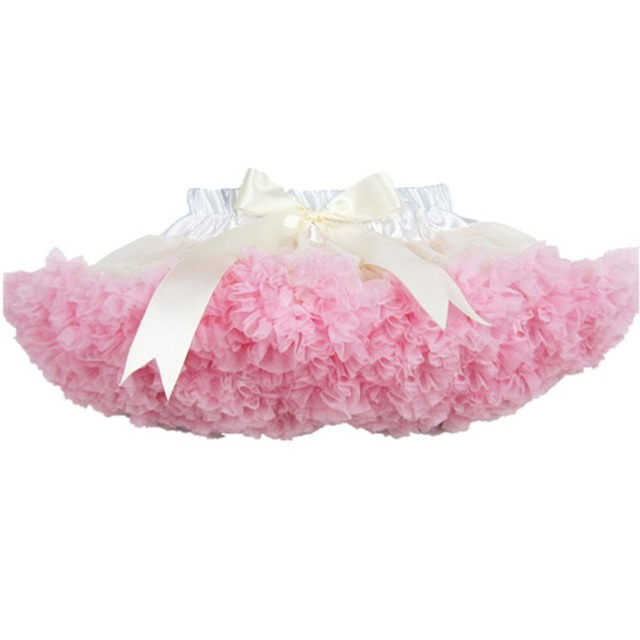 Wholesale 2015 New Chiffon Baby Pettiskirt Tutu Girls Toddler Flower Tutu Layered Princess Party Bow Kids Skirt