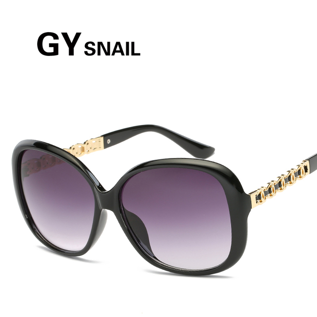 5d67a659d439 GYSnail 2017 New Arrival Oversized Women Vintage Butterfly Sunglasses  Designer Chain Decoration Sun Glasses Female Luxury Shades