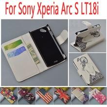 Кожаный чехол для Sony Ericsson Xperia Arc S LT18i/lt LT18 18 18I я откидная крышка для Sony X12 Xperia Arc LT15i телефон чехлы