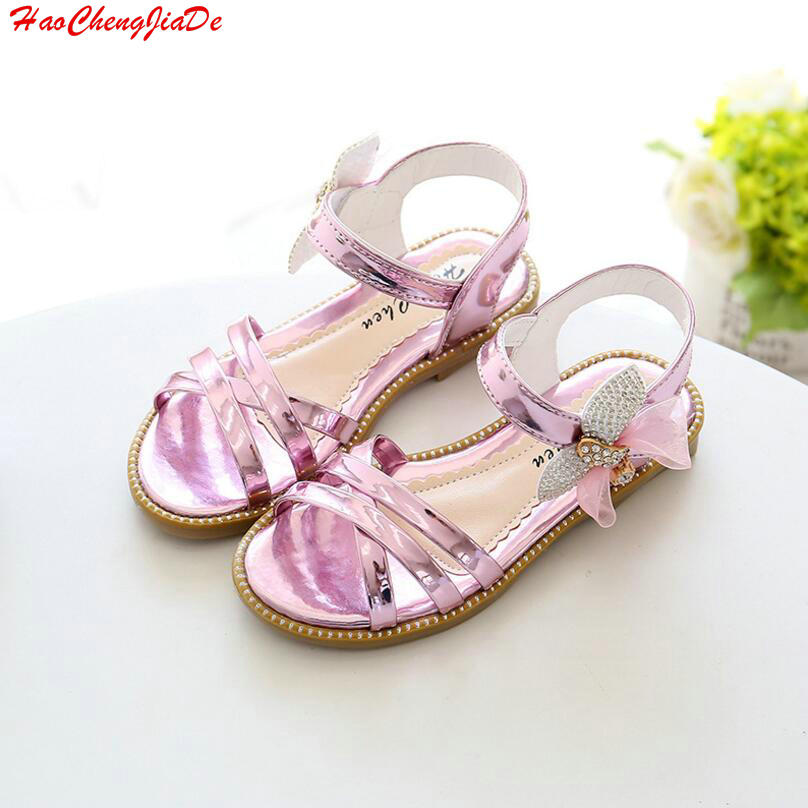 Detail Feedback Questions about 2018 Summer Diamond Bow Fashion Baby Girls  Shoes Solid Color Banded Bowtie Yarn Children s Sandals Single Girl Sandal  27 37 ... ccf5fe85bb07