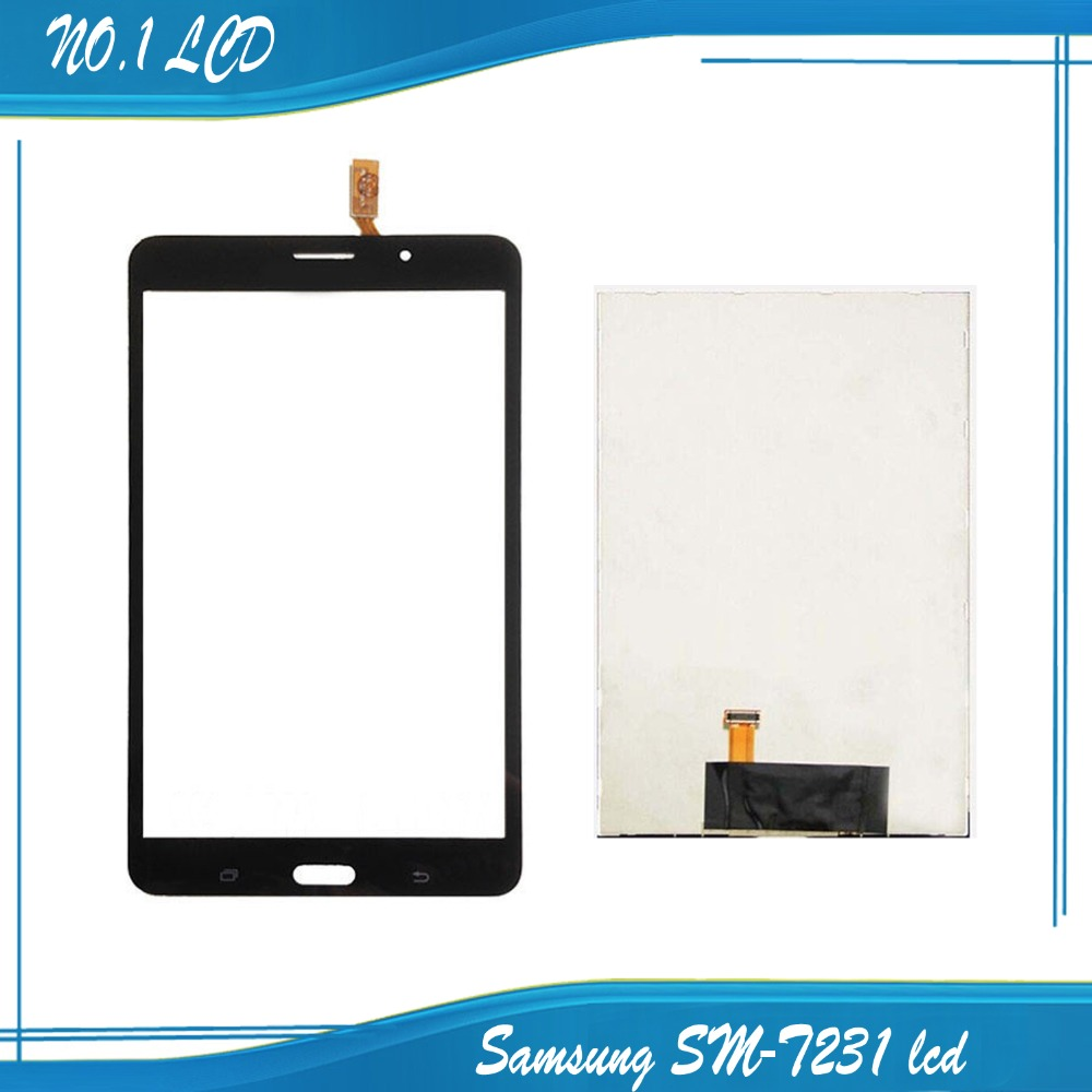 For Samsung Galaxy Tab 4 7.0 T231 T233 T235 Tablet Touch Screen Panel Digitizer Glass + LCD Display Monitor Black color