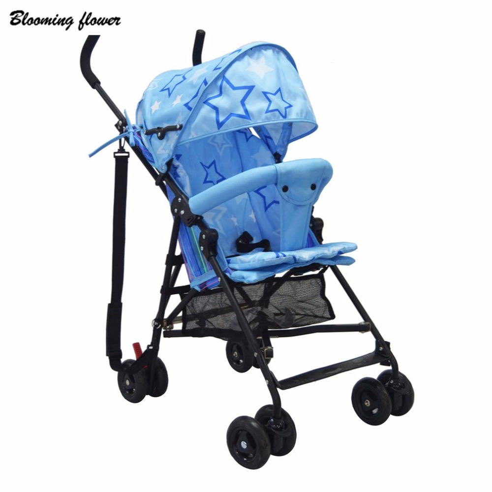 Baby Stroller Lightweight Four Wheels Folding Portable Easy Carry Umbrella Pram Seat For 15kg Traveling Stroller With Cushion