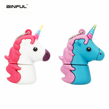 цена на usb Flash Drive 128gb Cartoon Unicorn Series 4G 8G 16G Pen drive 32G pendrive 64GB Cute Horse USB memory stick best Wedding Gift