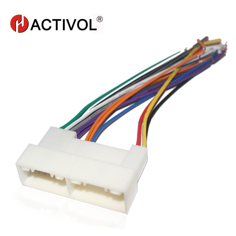 car radio female iso plug power adapter wiring harness for kia k2 k3 k5 sportage r [ 1000 x 1000 Pixel ]