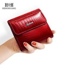 все цены на HH Slim Genuine Leather Women Wallets Mini Wallet Women Short Clutch Luxury Female Purse Coin Purses Card Holder Lady's Coin Bag онлайн