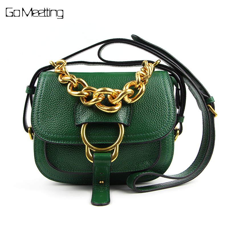 Go Meetting Genuine Leather Chain Women Shoulder Bag High Quality Cow Leather Ladies Crossbody Bags Fashion Samll Flap Bag женские часы go girl only go 694925