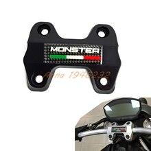 Suporte de Fixação do Guidão da motocicleta Superior Para Ducati Monster 821 ESCURO 2014 2015 2016 Supermoto Motocross Enduro Da Bicicleta Da Sujeira