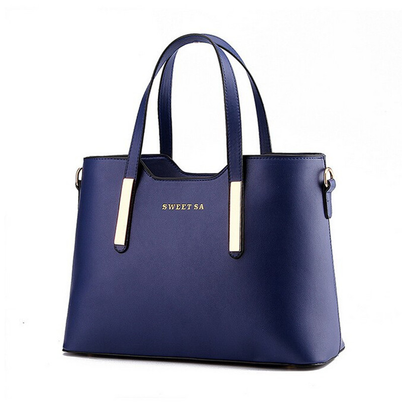 82f2387f5806 Popular Fashion Women Leather handbags Top-Handle Shoulder Messenger Bags  Solid Office Ladies Tote Bag