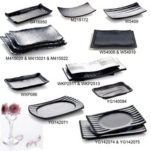 New Fashion Plate Melamine Tableware Wave Chain Restaurant With A5