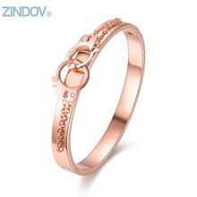Розовое золото ювелирные изделия браслет из нержавеющей стали