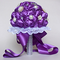 Luxury Crystal Wedding Bouquets 2016 Pearls Satin Rhinestones Bouquet Mariage Bridal Bouquet Bride Brooch Bouquet Wedding F05