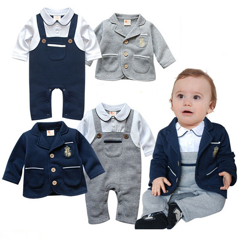 4de5b2525 Autumn Spring Wedding Suits For Baby Boys Clothes Newborn Romper ...