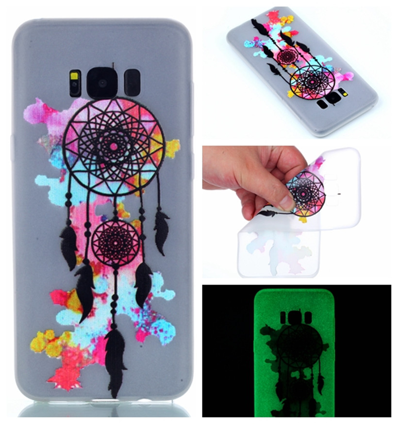 Luminous Case For Samsung Galaxy S8 S8 Plus S8+ Pattern TPU Phone Case Soft Silicon Glow In The Dark Back Cover Shell