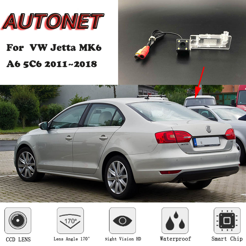 AUTONET Backup Rear View Camera For Volkswagen VW Jetta MK6/A6 5C6 2011~2018 Night Vision/license Plate Camera/parking Camera