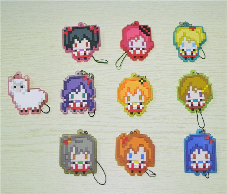 School Idol Project Uniform,maki,nozomi,nico Pixel Series Pvc Figure Genuine Pendant Toys 10 Pcs Lovelive Figures Love Live Toys & Hobbies