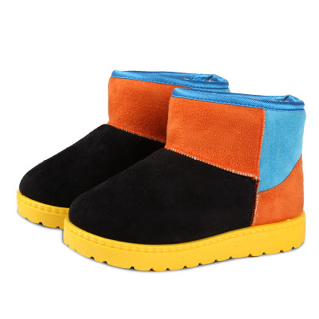Fashion casual winter boots snow ankle kids shoes for toddler girls