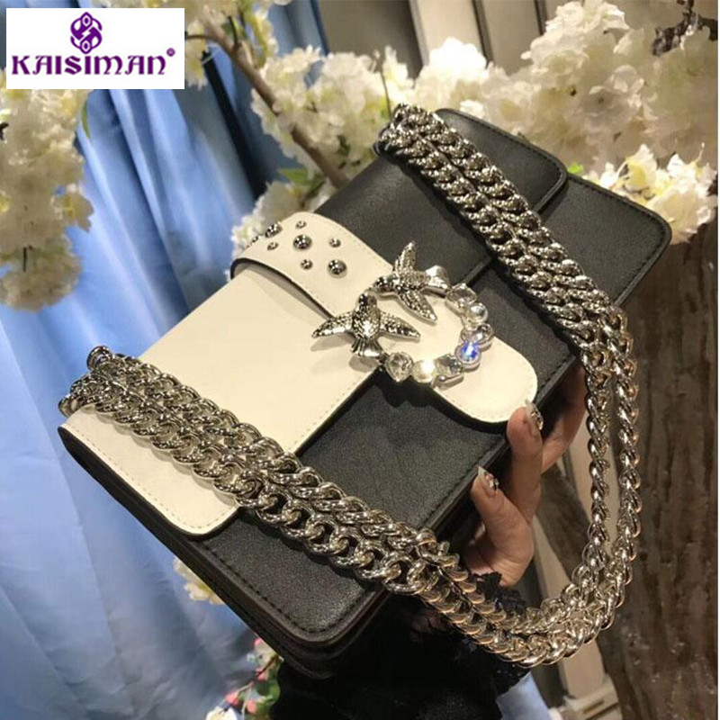 Famous Brand Women Bag Swallow Lock Designer Chain Shoulder Messenger Bag Luxury Handbag Fashion Diamond Crossbody Bag for Women cool walker mini chain bag handbags women famous brand luxury handbag women bag designer crossbody bag for women purse bolsas