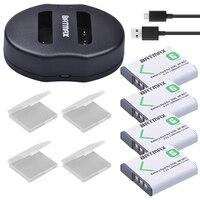 4Packs NP BG1 NP BG1 NP FG1 Batteries + Dual USB Charger for SONY DSC H3 DSC H7 DSC H9 DSC H10 DSC H20 DSC H50 DSC H55 DSC H70