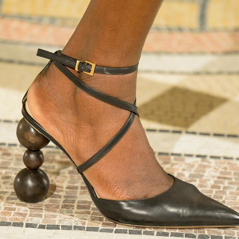 Mujeres Alto Verano Puntiagudo Negro Pista Estilo Zapatos Bombas De Mujer Sandalias Moda Tacón Cordón Pie naranja Sexy Extraño Dedo Del Pgapvq