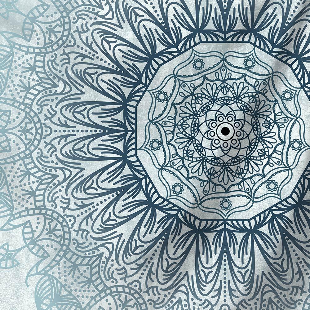 Miguor Tapisserie indienne Mandala /à suspendre au mur D/écoration de dortoir Psych/éd/élique Tapisserie Boh/ème Literie Art Indien Impression Mandala Mural Couverture de Pique-nique Rideau 51 x59 M001