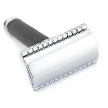 Double Edge Safety Razor Barbering Razor Sort Håndtag Manuel Razor Classic Style 9.8cm Anti Slip Håndtag Lyrebird H4 NY