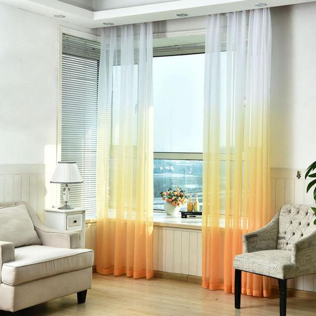 1M Gradient Ramp Window Door Hanging Curtain Divider Valance Background Decoration 5 Colors To Choose