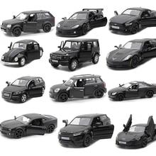 16 видов стилей 1:36, черная модель, машины для моделирования, литье под давлением, сплав, металл, для внедорожника, Супер спортивный автомобиль G63 Q7, Подарочная игрушка для детей V031