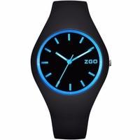 ZGO Brand Waterproof Men Women Fashion Lady Dress Watches Silicone Bracelet Wrist Watch For Children Kids