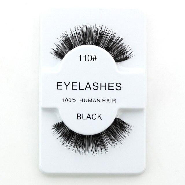 636062afe4c Genailish False Lashes 100% Human Hair False Eyelashes Hand Made Full Strip Lashes  Make Up Eyelash Extension Eye Lashes HH100