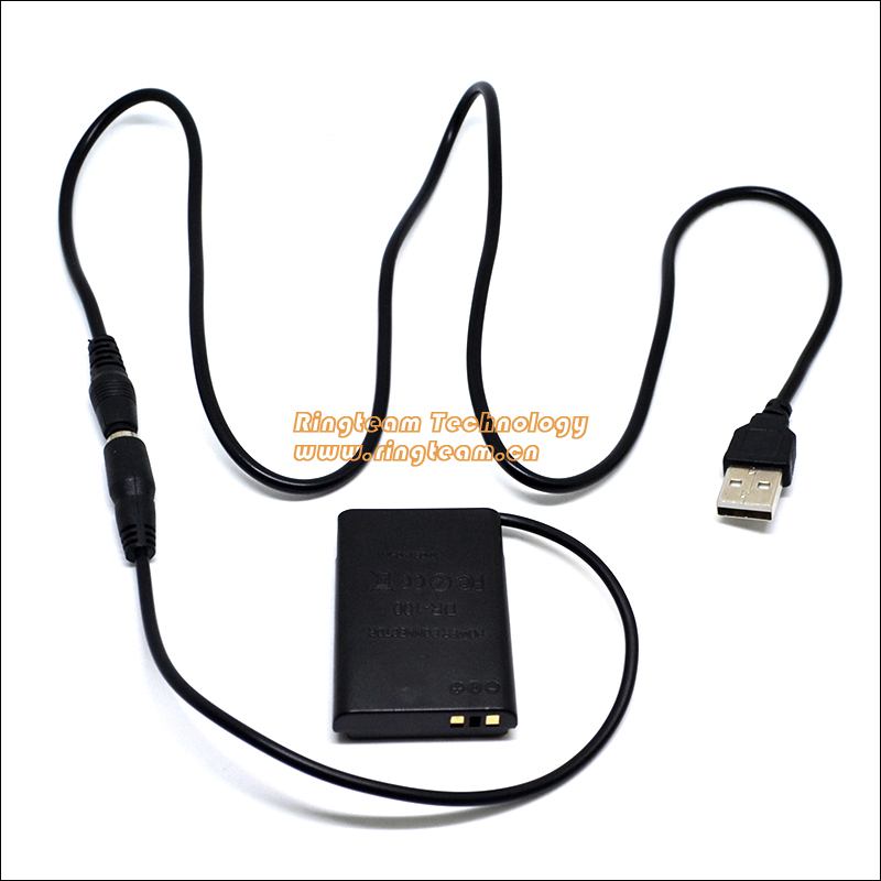 Power USB Cable + DR100 DR-100 DC Coupler NB12L NB-12L Fake Battery for Canon Digital Camera PowerShot G1X Mark II 2 & N100 ...