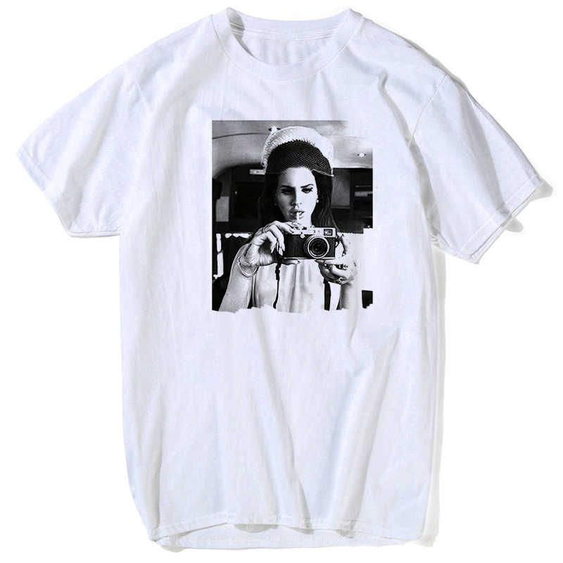 Verano 2019 Camiseta holgada de Lana Del Rey para hombre, de manga corta Camiseta holgada, camisetas divertidas de talla grande, Camisetas estampadas personalizadas, s-3xl