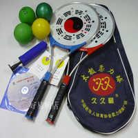 Heißer Verkaufs-chinese Kung fu Bälle Chinesischen Wushu Martial Arts Taiji Rouli Ball Schläger Set, 2 Schläger, 4 Bälle, 1 Beutel und Rauem