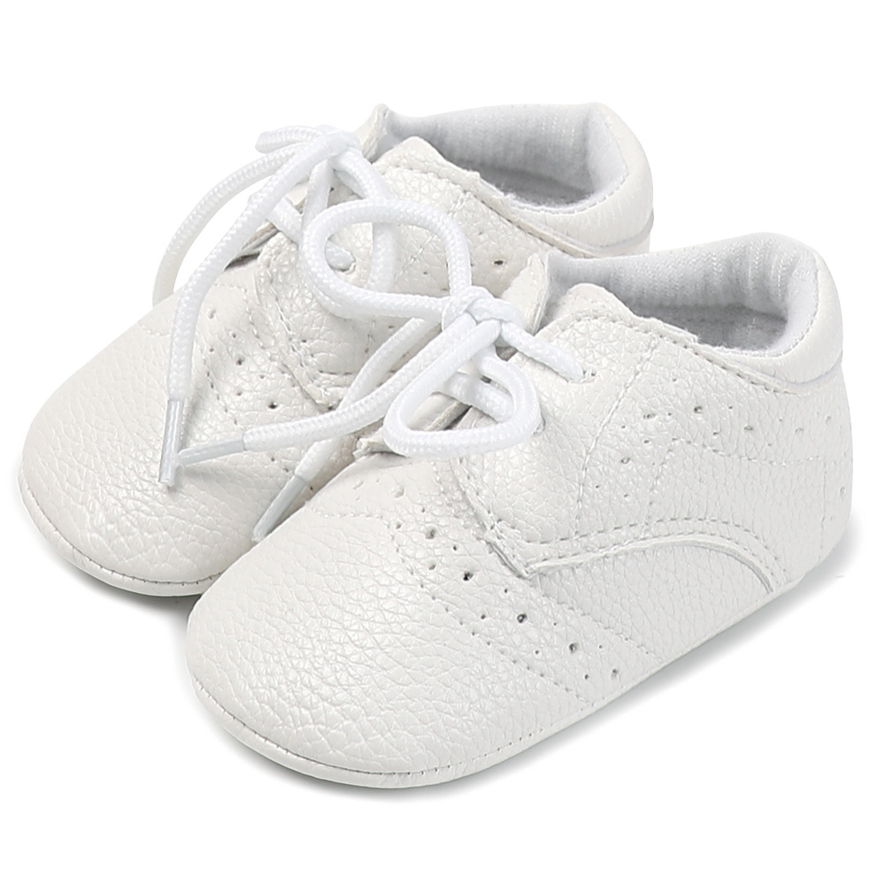 2020 Brand New 0-18M Newborn Toddler Baby Boys Girls Fashion Casual Pre Walker Leather Lace Up Baby High Shoes 3 Style