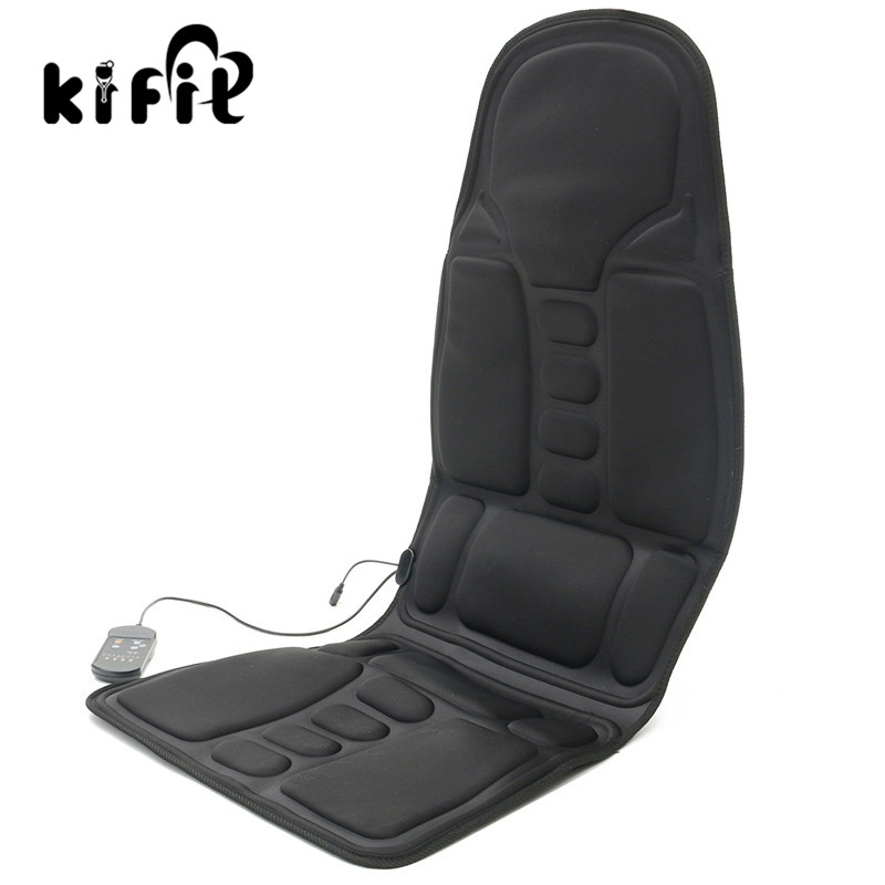 KIFIT Practical Black Back Massage Soothing Chair Heat Seat Cushion Neck Pain Lumbar Support Car Pads Relief Health Care Tool biety vehicle car seat head neck rest cushion pillows grey 2pcs