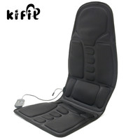 KIFIT Practical Black Back Massage Soothing Chair Heat Seat Cushion Neck Pain Lumbar Support Car Pads