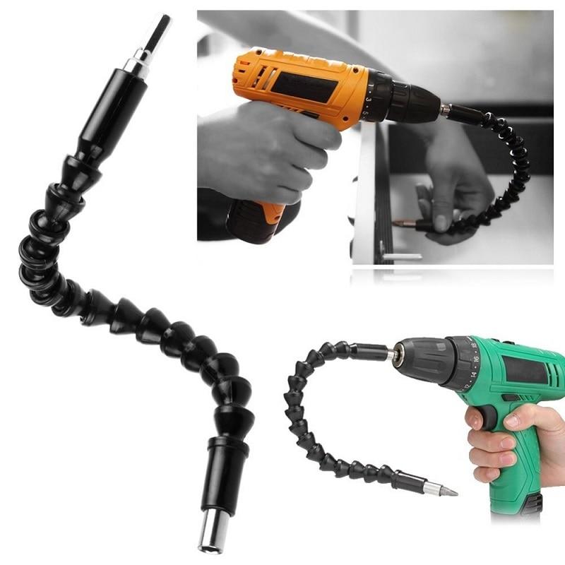 Car Repair Tools Black 295mm Flexible Shaft Bits Extention Screwdriver Bit Holder Connect Link Electronics Drill 1/4