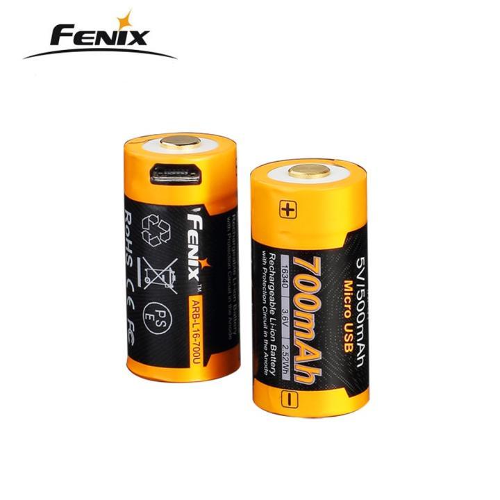 1 pcs Fenix ARB-L16-700U USB Rechargeable 700mAh Rechargeable Li-ion 16340 RCR123A Battery1 pcs Fenix ARB-L16-700U USB Rechargeable 700mAh Rechargeable Li-ion 16340 RCR123A Battery
