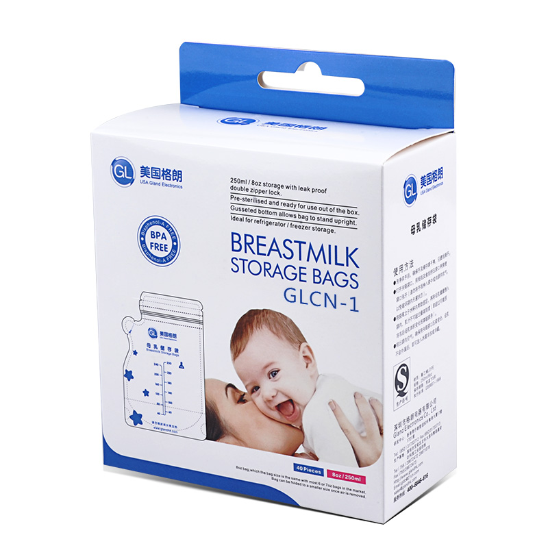 40 Pieces Gl T Milk Storage Bag Bpa Free Baby Safe Feeding Bags 250ml Freezer Mother Food In From