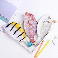 Kreative Fisch Form Bleistift Fall Kawaii Korea Stil Tuch Bleistifte Taschen Schule Liefert Schreibwaren Heißer Stift Box Geschenk