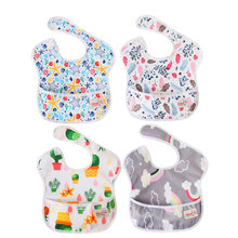 Ohbabyka Waterproof Baby Superbib with Pocket Baby Bib Washable Stain and Odor Resistant Feeding Clothes Baby Shower Gift 8in1 cat stain and odor exterminator nm jfc s