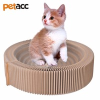 Petacc High Quality Cat Scratcher Bed Pussy Scratch Lounge Recycled Corrugated Cardboard Cat Bed For Indoor