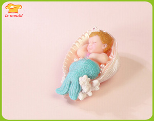 Exclusive sales latest mermaid candle mould children's birthday parties candle mermaid soap mold